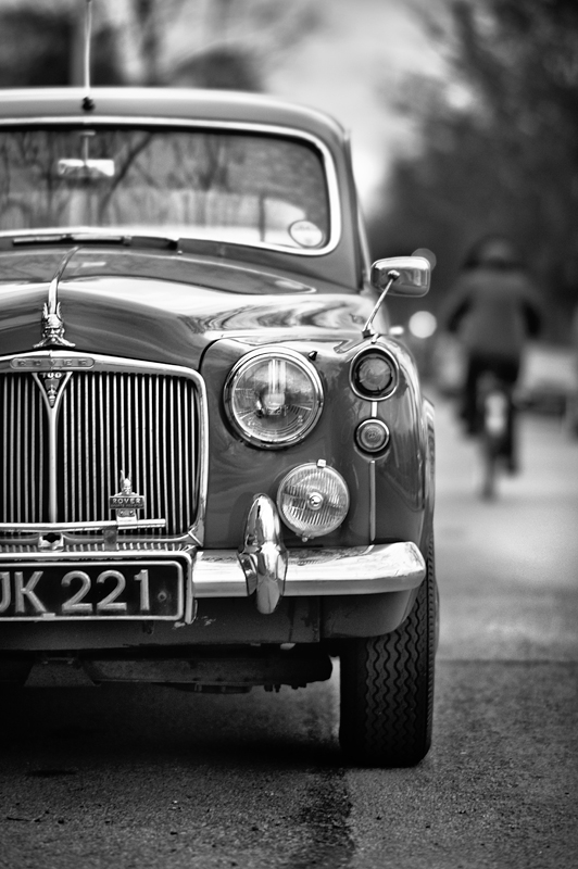 The Rover P4:Black and White Photo-512