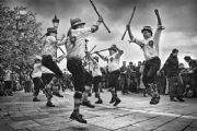 Morris Dance:Black and White Photo-529