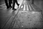Footprints:Black and White Photo-538