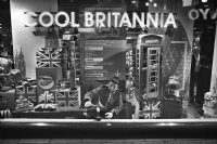 Cool Britannia in Tea Break:Black and White Photo-534