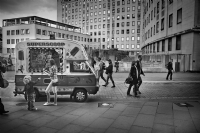 Ice Cream Van:Black and White Photo-535