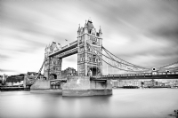 Tower Bridge, London:Black and White Photo-546