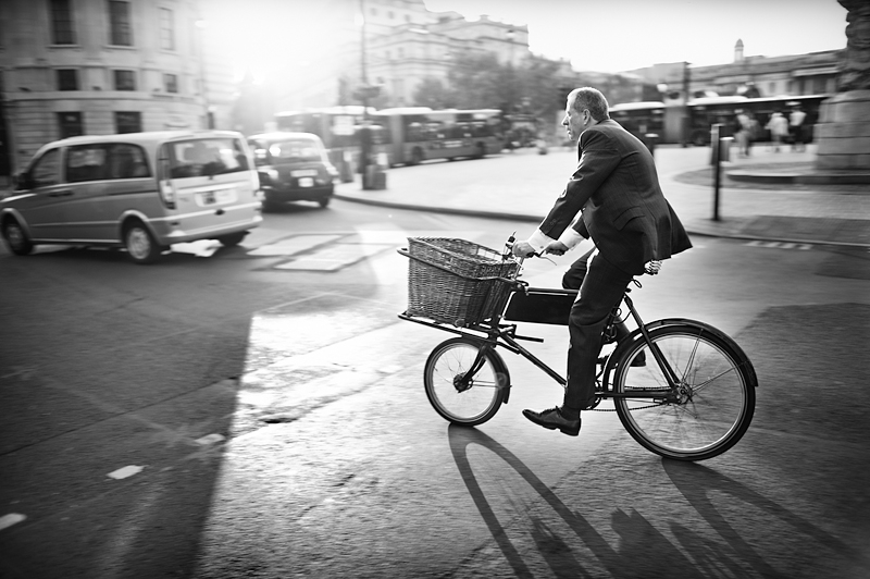 London businessman on the move:Black and White Photo-550