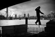 Parkour in London:Black and White Photo-579