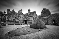 Langshott Manor:Black and White Photo-593