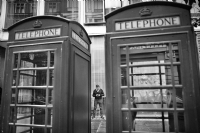 Telephone Smartphone Telephone :Black and White Photo-594