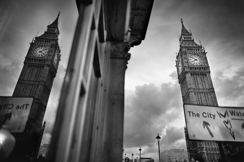 Big Ben London:Black and White Photo-592