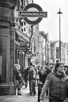Waiting at Covent Garden Station:Black and White Photo-618