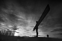 Angel of the North:Black and White Photo-619