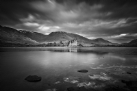 Kilchurn Castle Loch Awe, Scotland:Black and White Photo-625