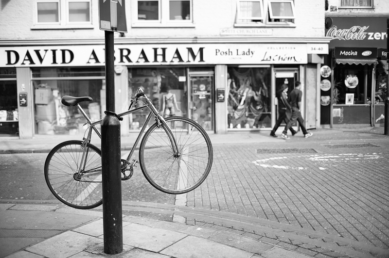 Bicycle Lock:Black and White Photo-627