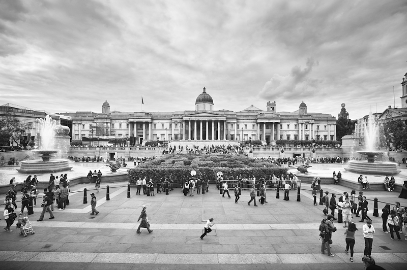 The National Gallery London:Black and White Photo-630
