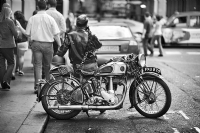 BSA Gold Star:Black and White Photo-638