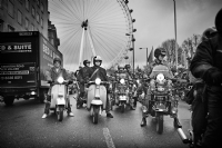 Scooter rideout in London:Black and White Photo-639