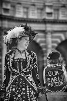 Pearly Kings and Queens:Black and White Photo-647