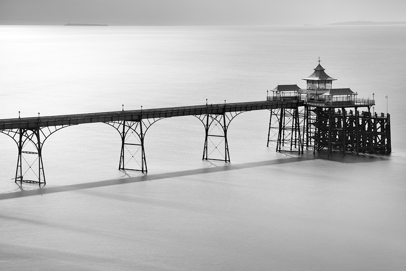 Clevedon Pier, May 2011:Black and White Photo-646