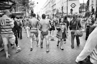 Underwear in the street of London:Black and White Photo-655