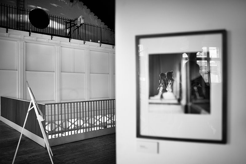 Reflection in a picture frame:Black and White Photo-651
