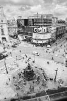 Piccadilly Circus London 2011:Black and White Photo-660