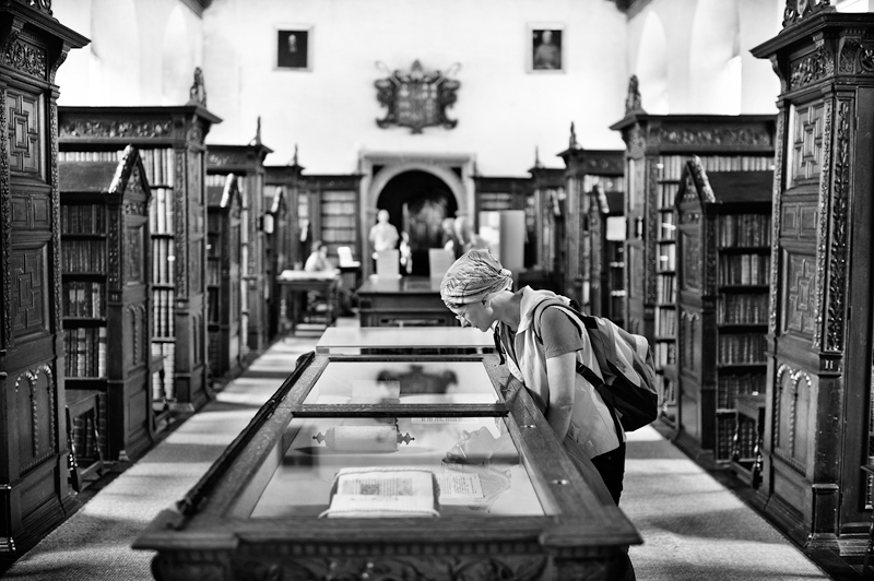 St John's College Cambridge, The old Library:Black and White Photo-662