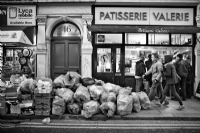 Rubbish - Old Compton Street London:Black and White Photo-675