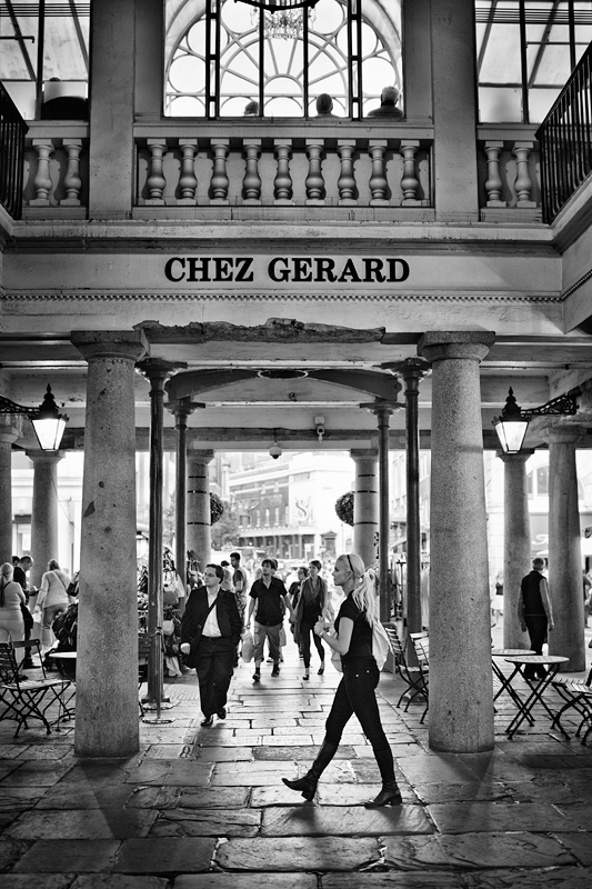Under the Chez Gerard, Covent Garden:Black and White Photo-679