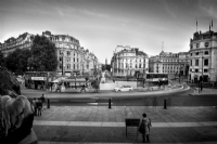 View from Trafalgar Square:Black and White Photo-701