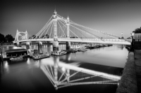 Albert Bridge, London:Black and White Photo-702