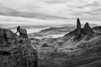 Old man of storr:Black and White Photo-705