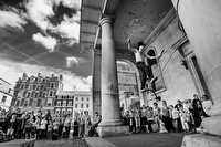 Street Performers at Covent Garden:Black and White Photo-752