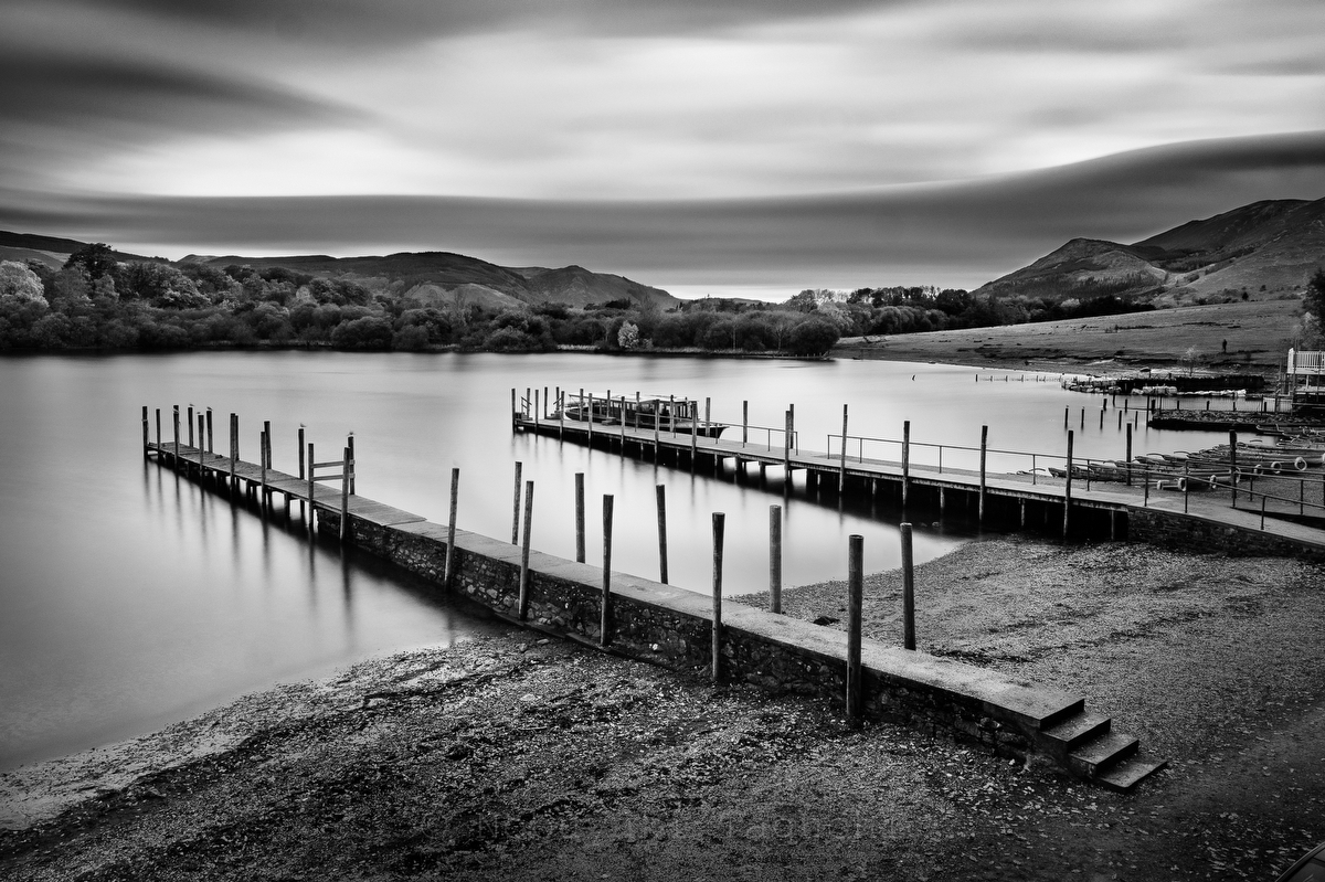 Keswick Lakeside:Black and White Photo-743