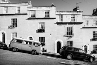 Steep Road in Bath:Black and White Photo-748