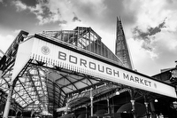 Borough Maket, London:Black and White Photo-750