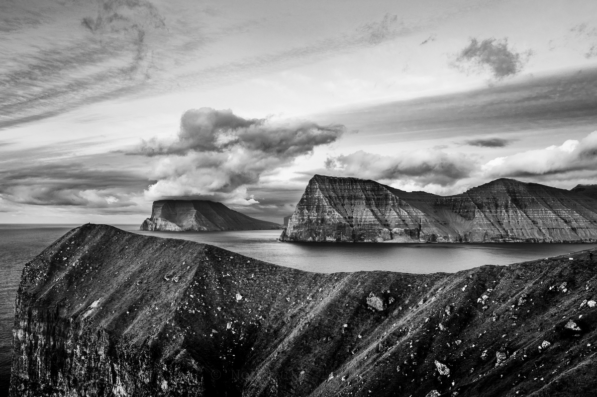 Faroe Island, Kallur :Black and White Photo-755